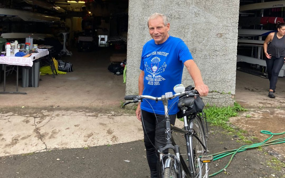 Oldest competing SABC member to cycle 75 miles to raise funds
